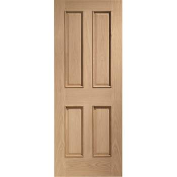 Oak Victorian 4 Panel Raised Moulds Internal Fire Door Wooden Timber Interior