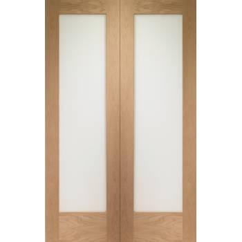 Oak Pattern 10 Internal French Door Pair Clear Glass Patt 10 20