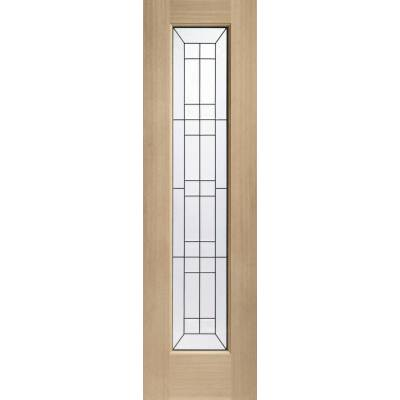 Oak Side Light External Wooden Timber Triple Glazed 80x23&qu...
