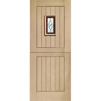 Oak Chancery Stable External Door Wooden Timber Triple Glazed