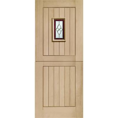 Oak Chancery Stable External Door Wooden Timber Triple Glaze...