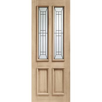 Oak Malton Diamond External Door Wooden Timber Triple Glazed