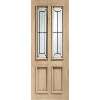 Oak Malton Diamond External Door Wooden Timber Triple Glazed...