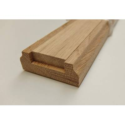 Oak 3.9m Stair Baserail 32mm Groove Timber Wooden Hardwood B...