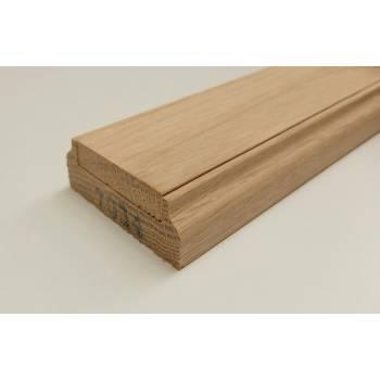 Oak 3.9m Stair Baserail 41mm Groove Timber Wooden Hardwood Balustrade Base Rail