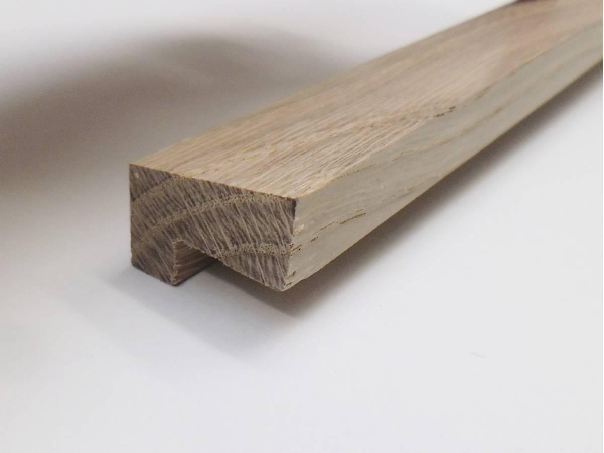 Window Glazing Bead : Oak fire check glazing bead hockey stick mould trim
