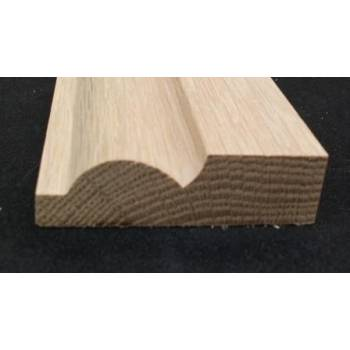 "69x20mm 3"" Torus Architrave Timber American White Oak Hardwood Wooden"