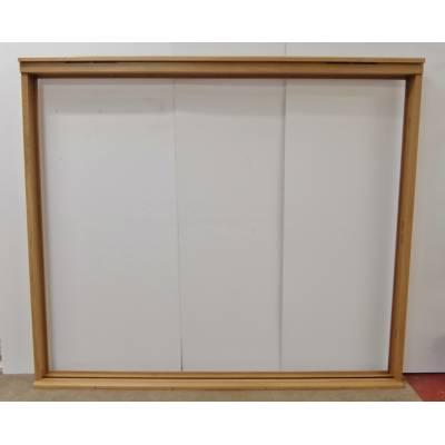 Wooden Timber Oak Trifold Folding Door Frame Door Pairs Fren...