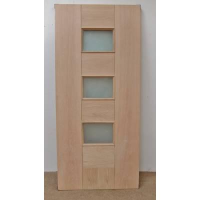 Engineered Oak Pablo External Double Glazed Door 78x33 78x36...