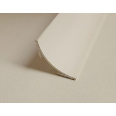 PVC Plastic Scotia 18mm x 18mm 2400mm 2.4m White Trim Mouldi...