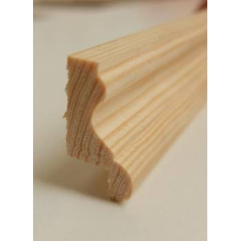 2.4m 29x16mm Rebated Dado Rail Timber Pine Wooden Timber Picture Cladding Trim
