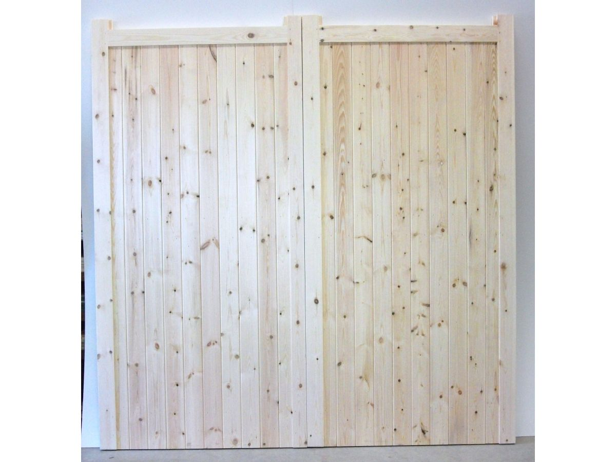 Wooden Timber Garage Doors BUDGET Solid Boarded Side Hung Frame ...