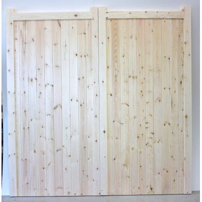 Timber Garage Doors Frame Ironmongery Solid Boarded Side Hun...