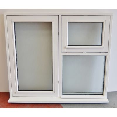 Obscure Glass White Flush Casement Wooden Timber Window 1200...