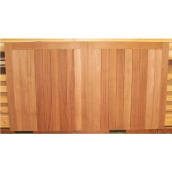 "Driveway Gate Bespoke Sapele Square Wooden Timber Gates Hardwood 84""x120"""