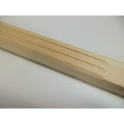 Fluted Stop Chamfer Pine 41mm Stair Spindle 895mm Square Wooden Softwood Timber - Length: