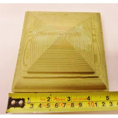 "Treated Cap For 4"" Fence Post 125mm Pattress Pyramid Te..."