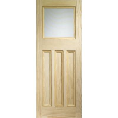 Pine Vine DX 30's Glazed Internal Door Wooden Timber Interio...