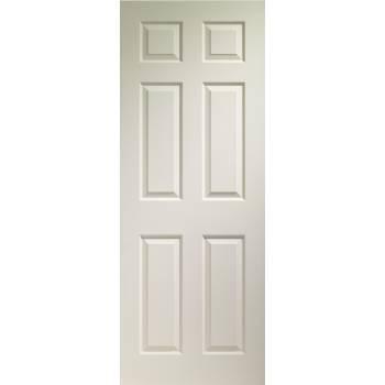 Primed Colonist 6 Panel Fire Door