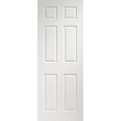 Colonist 6 Panel Internal Pre-Finished White Moulded Door  -...