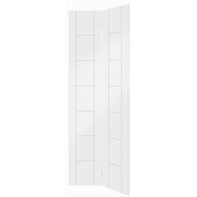 White Primed Palermo Internal Bi-Fold Bifold Door  - Door Si...