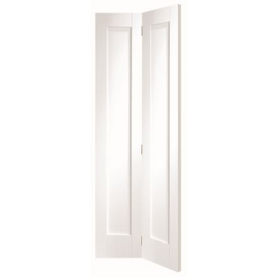 White Primed Pattern 10 Panelled Internal Bifold Door  - Doo...