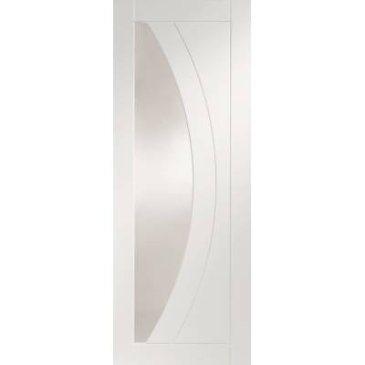 White Primed Salerno Glazed Fire Door Panel Internal Door In...