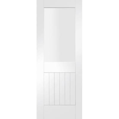 White Primed Suffolk Glazed Internal Door Interior - Size, H...