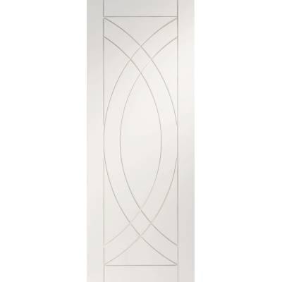 White Primed Treviso Panel Internal Door Interior - Size, Hx...