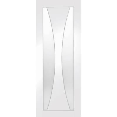 White Primed Verona Glazed Internal Door Interior - Size, Hx...