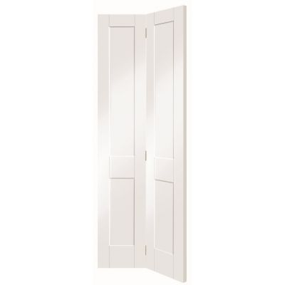 White Primed Malton Clear Glazed Shaker Internal Bi-Fold Bif...