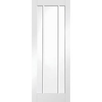 White Primed Worcester Clear Glazed Fire Door Internal Door Interior