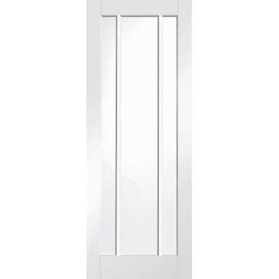 White Primed Worcester Clear Glazed Fire Door Internal Door ...