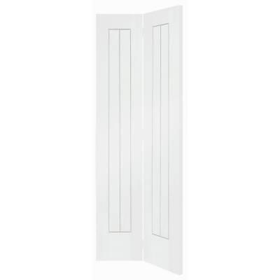 White Primed Suffolk Internal Bi-Fold Bifold Door 78x30&quot...