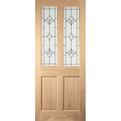 Oak Woodhouse External Door Timber Wooden Glazed Thornbury Victorian Four Panel - Door Size, HxW:
