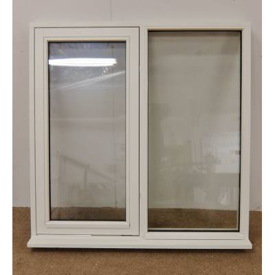 White Finished Flush Casement Wooden Timber Window 1200x1200...