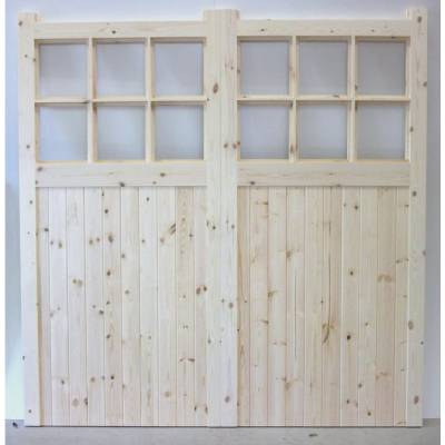 Made to Measure Apertured Garage Doors Pair - Width (MM):  -...