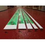 Plastic Architrave Trims Cloaking Fillet D Mould UPVC 20mm 28mm 40mm 60mm 90mm