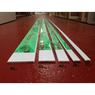 Plastic Architrave Trims Cloaking Fillet D Mould UPVC 20mm 2...