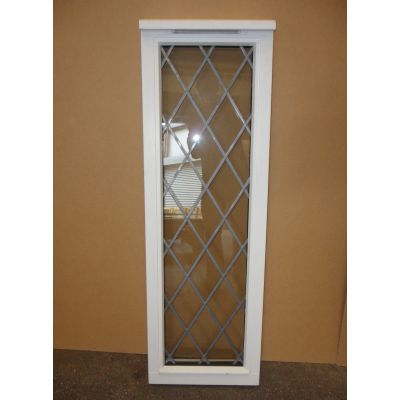 Wooden Timber Window Softwood Leaded Glass 400x1220mm AUC526...
