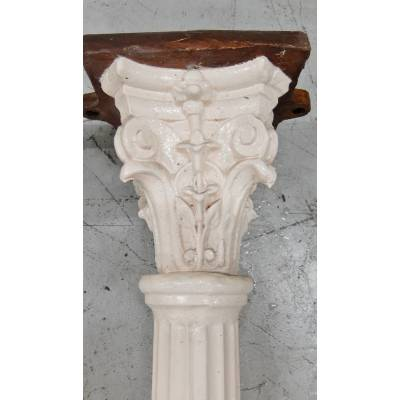 1x Reclaimed Cast Iron Decorative Fluted Support Column Pill...