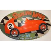 Massive Stirling Moss Formula 1 3D Wallart