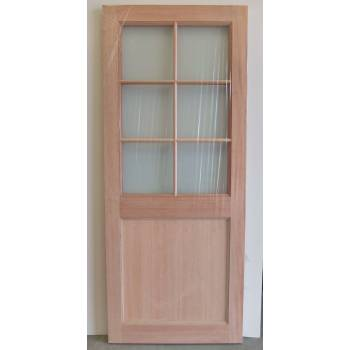 "Hardwood Brook Hatfield KX1T External Double Glazed Door 78x30"" 44mm Thick"