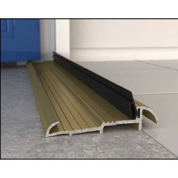 Outward Opening Stormguard Metal Sill 1.8m French Door Pair Gold/Silver/Black