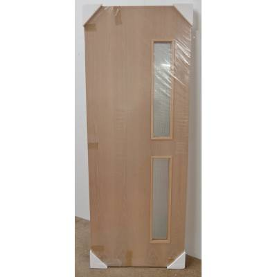 Ply Flush Internal Fire Door FD30 GO9 Clear Georgian Wired G...