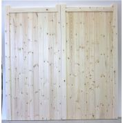 Made to Measure Solid Boarded Garage Doors Pair - No Frame