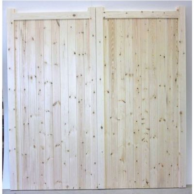 Made to Measure Solid Boarded Garage Doors Pair & Frame ...