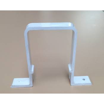 White Offset Downpipe Bracket