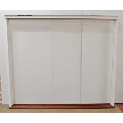 Wooden Timber White Trifold Folding Door Frame Door Pairs Fr...