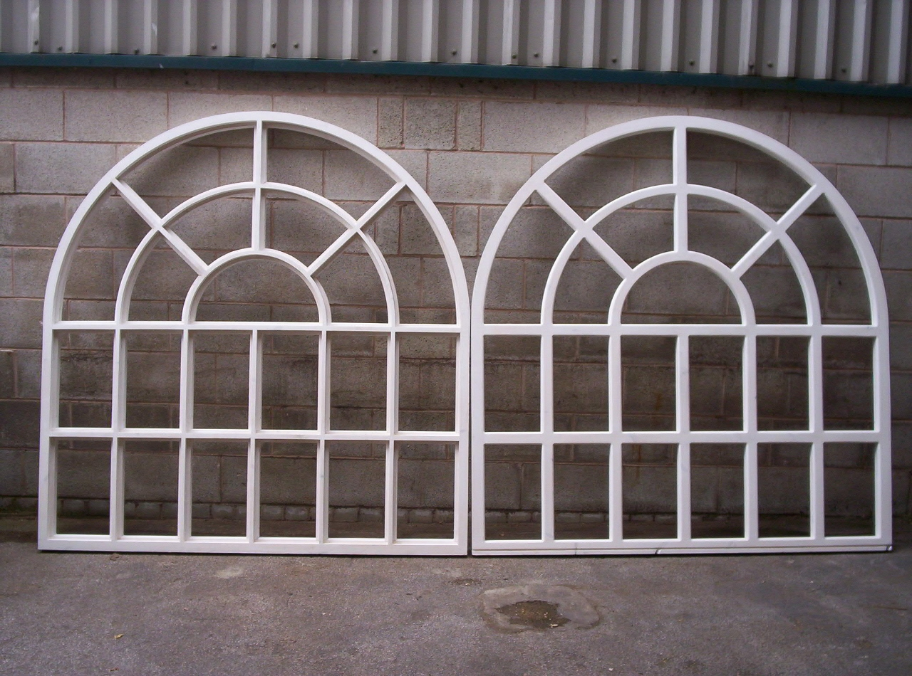 Arched Georgian Timber Windows With Radial Bars